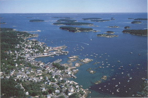 Islands off Stonington, Maine.