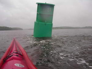 Buoy in Kennebec River